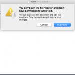 Mac hosts dosyası değiştirme