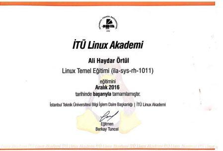 ali örtül linux sertifikası