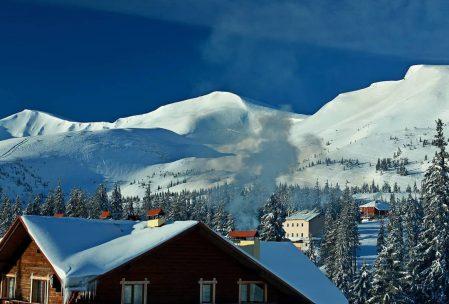 Drahobrat kayak merkezinden görünüm