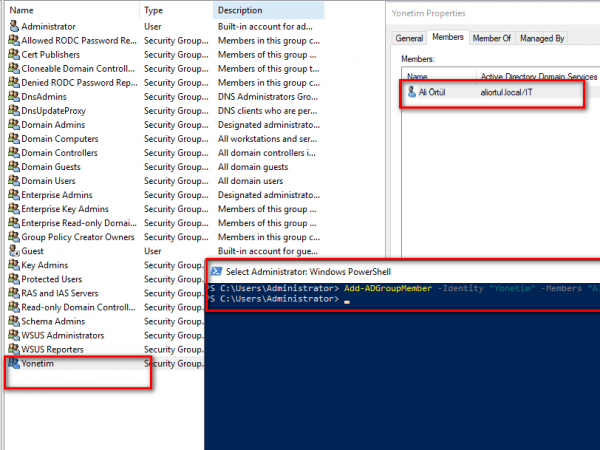 powershell add remove users group active directory