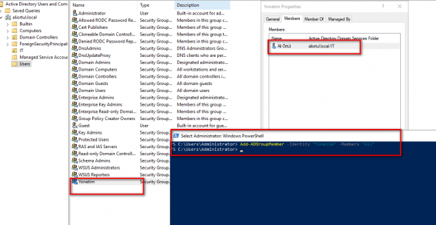 Powershell add remove users to group Active Directory