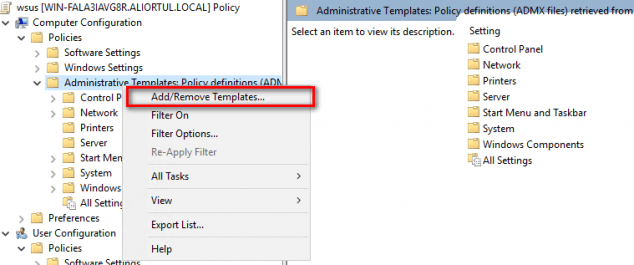 wsus group policy